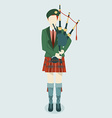 Kilt scottish vector image