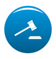 legal gavel icon blue vector image