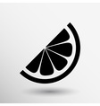 logo element in orange slice vitamins vector image vector image