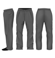 Men sweatpants black vector image vector image