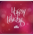 Merry Christmas interlaced lettering with bokeh vector image vector image