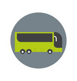 modern tourist bus icon travel transport concept vector image vector image