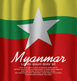 Myanmar Flag Curtain vector image