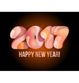 New Year 2017 greeting card vector image vector image