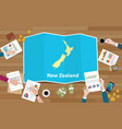 new zealand economy country growth nation team vector image vector image