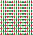 Seamless Christmas Abstract Pattern with Rhombus vector image
