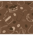 Seamless pattern with coffee signs vector image vector image