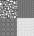 Seamless patterns Set 1 Abstract geometric vector image vector image