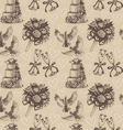 Seamless wedding pattern vector image vector image