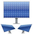 Set of Blue electric solar panel for sun light vector image