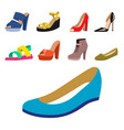 set of womens shoes flat design collection vector image vector image