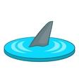 Shark fin icon cartoon style vector image vector image