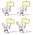 Simple Business People Holding a Placard vector image vector image