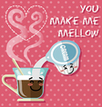 smiling cartoon on coffee cup and coffee creamer vector image vector image