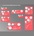 social media banner pack vector image