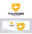 thunder love logo design vector image vector image