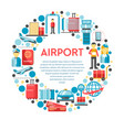 traveling and airport procedures staff vector image