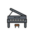 upright piano music instrument color line icon vector image