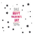 valentines day sale text with gift vector image vector image
