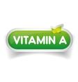 Vitamin A label vector image vector image