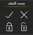 File access chalk icons vector image