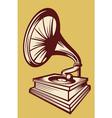 gramophone with horn speaker vector image