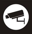 video surveillance sign cctv camera vector image
