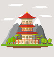 cartoon japanese temple vector image