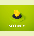 security isometric icon isolated on color vector image