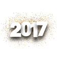 2017 background with golden sand vector image