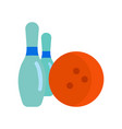 a bowling vector image