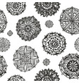 abstract circles seamless pattern round vector image