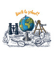 back to school poster geography banner for web vector image vector image
