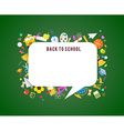 Back to school speech bubble background and vector image
