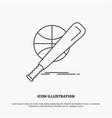 baseball basket ball game fun icon line gray vector image vector image