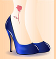 blue shoes tattoo vector image vector image