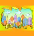 building of big city vector image vector image