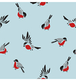 Bullfinches seamless pattern vector image vector image