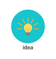 business idea - light bulb lamp icon vector image