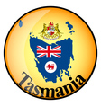 button Tasmania vector image vector image