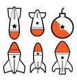 Cartoon Bomb missiles vector image vector image