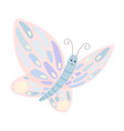 cartoon butterfly with spread wings vector image