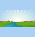 cartoon river landscape vector image