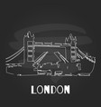 chalkboard london hand draw poster vector image