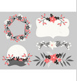 Christmas Floral Elements Collection vector image vector image