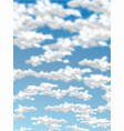 cloud sky realistic 2 vector image