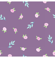 Cute floral violet pattern vector image vector image