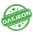Daejeon green stamp vector image vector image