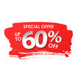 discount 60 percent in paper style vector image vector image