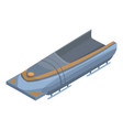 empty bobsleigh icon isometric style vector image vector image